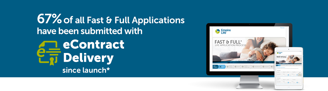 67% of all Fast & Full Applications have been submitted with eContract Delivery since launch*